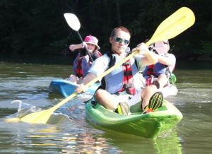 Thomas is most at home in the outdoors.  Here he is at the beginning of his S3 summer experience,  kayaking the Ocoee.