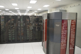 The supercomputer room where Titan and Kraken are housed.