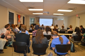 A full house to hear student presentations.
