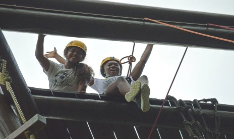 Angel Oneill and Sydelle Young (the author) at the top of the tower